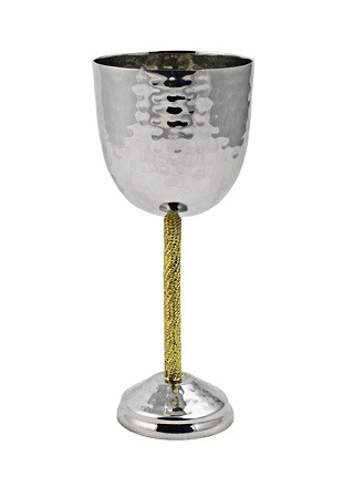 Kiddush Goblet with Gold Stem