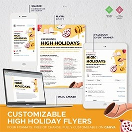 High Holidays Flyer 5781- Customizable on Canva