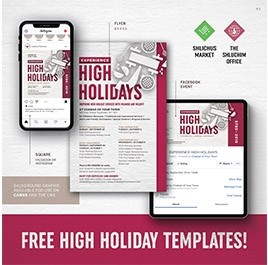 High Holidays Flyer Package