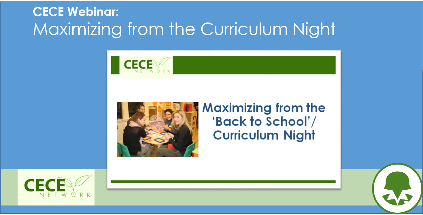 Maximizing your Curriculum Night