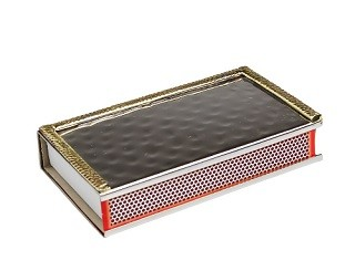 Large Match Box with Gold Border