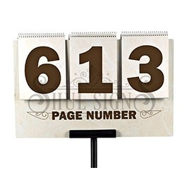 Page Number Sign (3 Digit) NEW