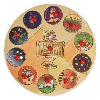 Passover 10 Plagues Puzzle - Round