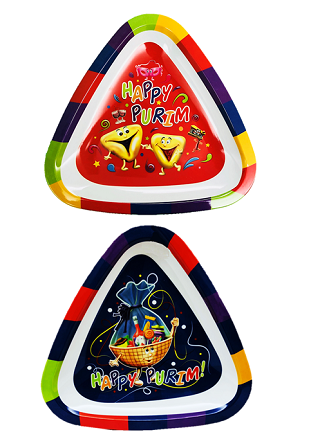 Purim Tray - Triangle Style