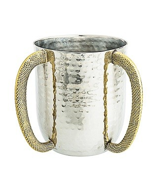Wash Cup with Gold Handles