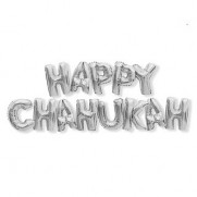 Happy Chanukah Balloon Bunting - Silver/Gold