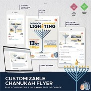 Chanukah Flyer 5781- Customizable on Canva