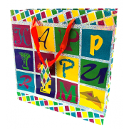 Foil Glitter Purim Gift Bag