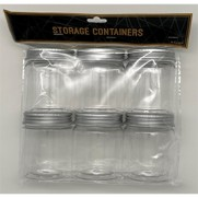 Plastic Containers - 6 Pack