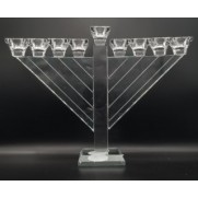 Glass Rambam Menorah