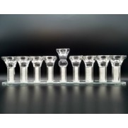 Glass Menorah With Stem Type B