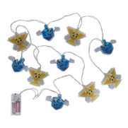 Dreidel and Menorah String Lights