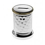 Money Charity Box with Gold Rim