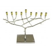 Hammered Stainless Steel Menorah
