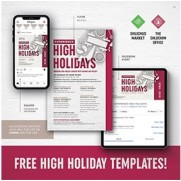 High Holidays Flyer Package - Customizable PDF's