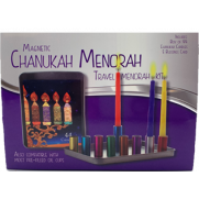 Magnetic Menorah Travel Kit with LONG Candles