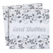Good Shabbos Napkins - Embossed - Silver