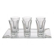 Set of 6 Liquor Glasses with Swarovski Stones