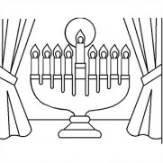 Menorah Sand Art
