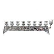 Silver Plated Menorah - SHORT