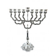 Silver Plated Menorah - TALL