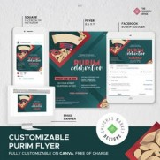 *Purim Flyer 5781- Customizable on Canva