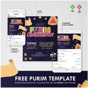 Purim Flyer Package