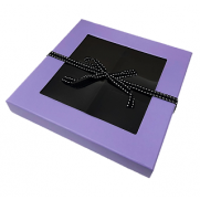 Small Sectional Window Box with Ribbon - PURPLE