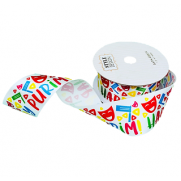 Purim Character Satin Ribbon - Large