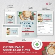 *Pesach Seder-To-Go Flyer- Customizable on Canva