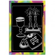 Shabbat Scratch Art Bulk