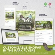 Shofar in the Park - Customizable on Canva