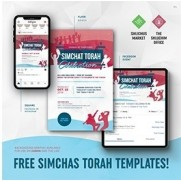 Simchas Torah Flyer Package - Customizable PDF's