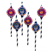 Chanukah Straw Toppers