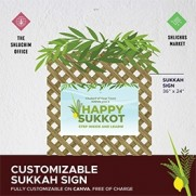 Sukkah Sign - Customizable on Canva