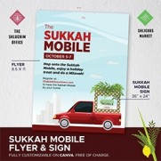 Sukkah Mobile Flyer & Sign - Customizable on Canva