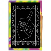 Dreidel Scratch Art Bulk