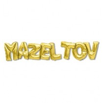 Mazel Tov Balloon - Gold