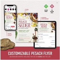 Pesach Seder Flyer Package - Customizable PDF's