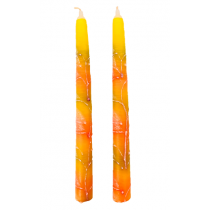 """Hand Dipped Color Candles 7"""" - Yellow"""
