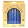 Hand Dipped Color Candles Pack of 8 - BLUE / WHITE