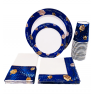 Chanukah Party Tableware Set - Plates Napkins Cups