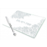 Glass Challah Tray with Knife