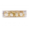 Gold Apple Napkin Rings - Set of 4