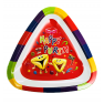 Purim Tray - Triangle Style - RED