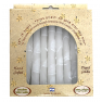 Hand Dipped Color Candles Pack of 8 - WHITE